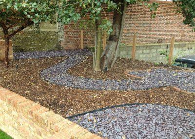 Slate chip path, family garden brighton