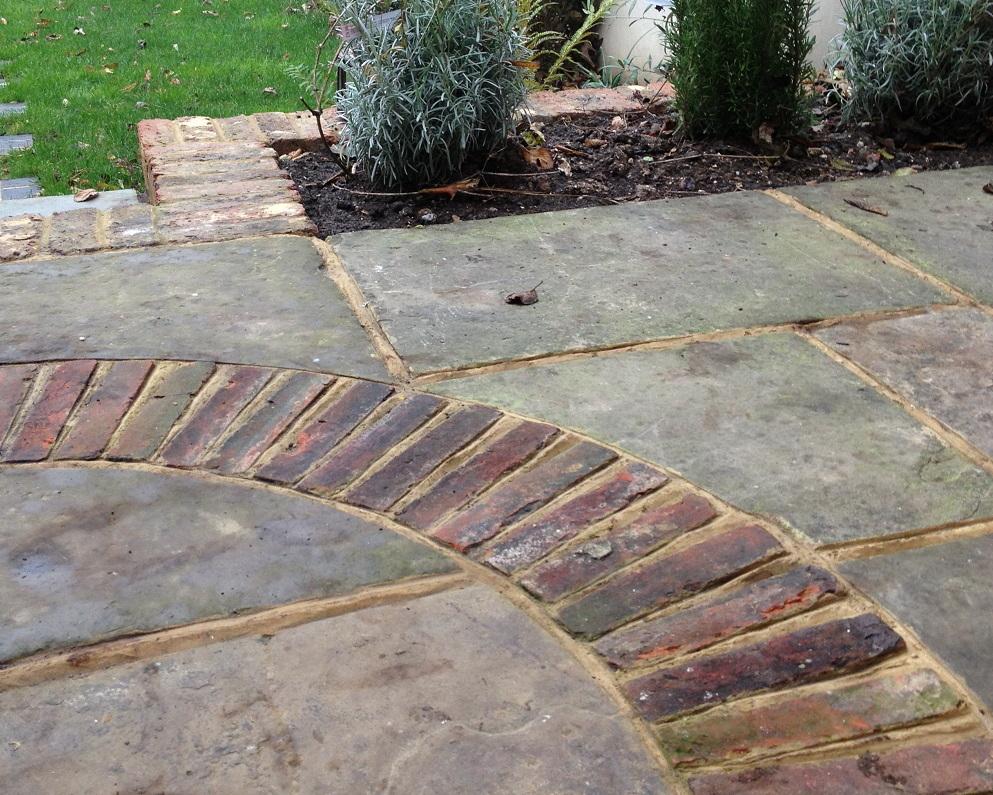 Natural stone and brick paving
