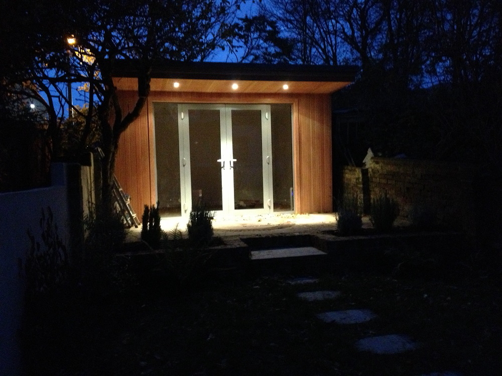Garden office and patio