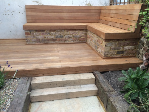 Belau decking and garden bench